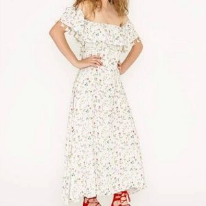 NWT Carolina K Off The Shoulder Flowers Dress